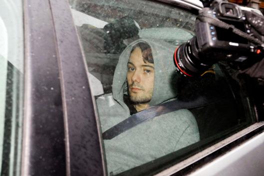 Shkreli hoodie arrested